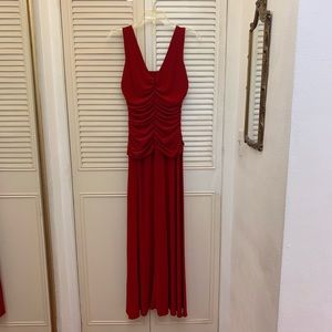 Red Full Length Gown Dress